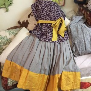 Anthropologie TULLE Pleated Cute Skirt Lined M New
